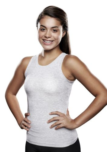 Lightweight Unisex V-Neck Seamless Brace torso interface Vest- No flaps- White or Grey- from